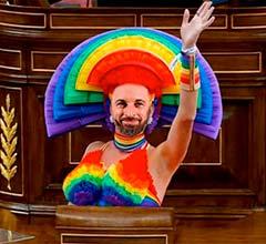 Abascal, protagonista de memes tras abanderarse defensor del colectivo LGTB
